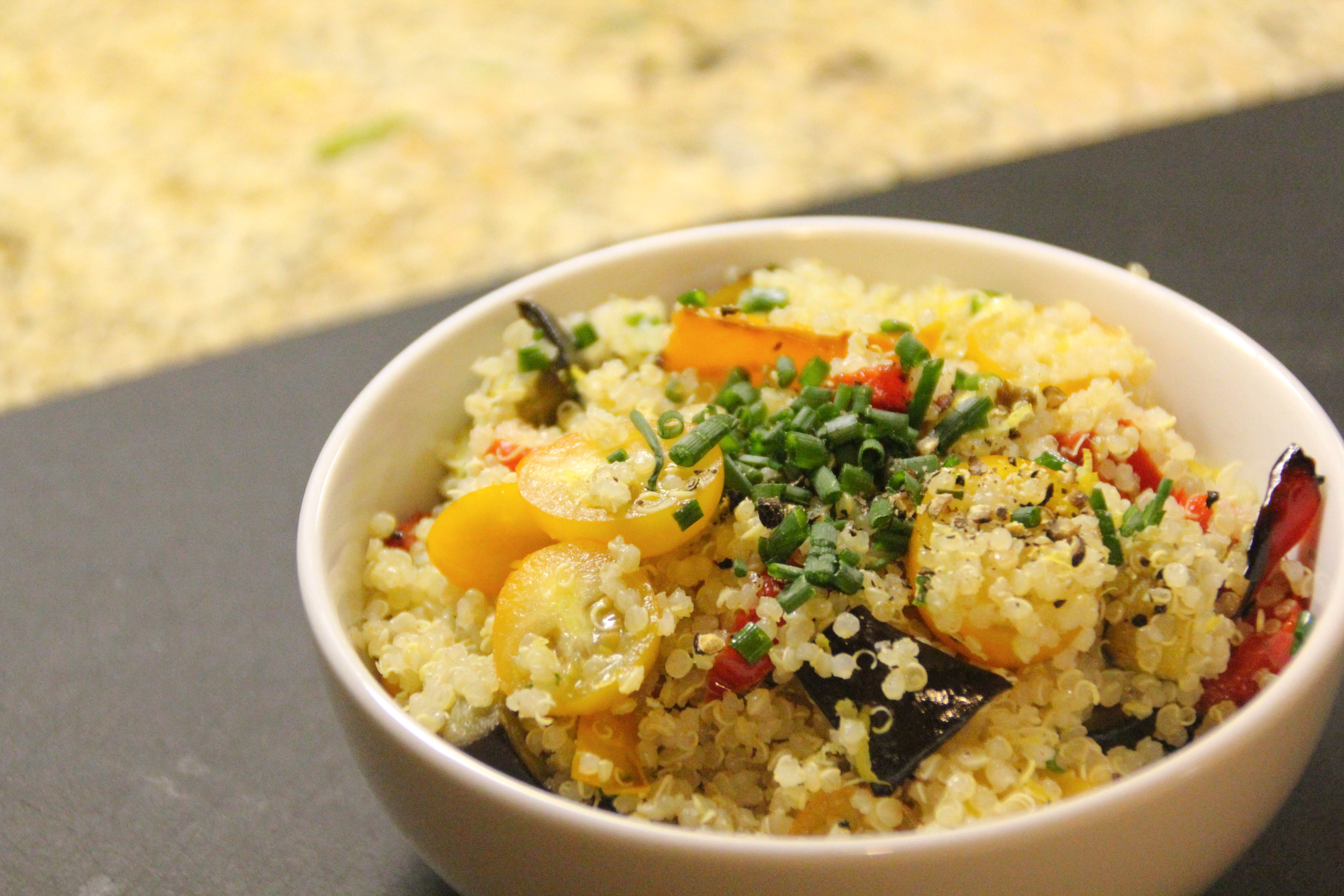 ... bad: lemony quinoa salad with roasted vegetables | E A T & R E L I S H