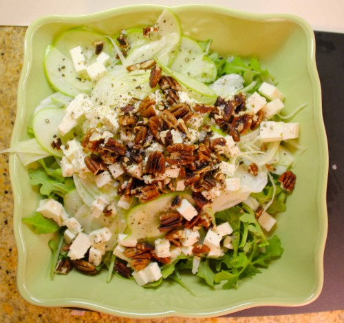 spring greens: fennel, apple, and arugula salad with feta and toasted ...