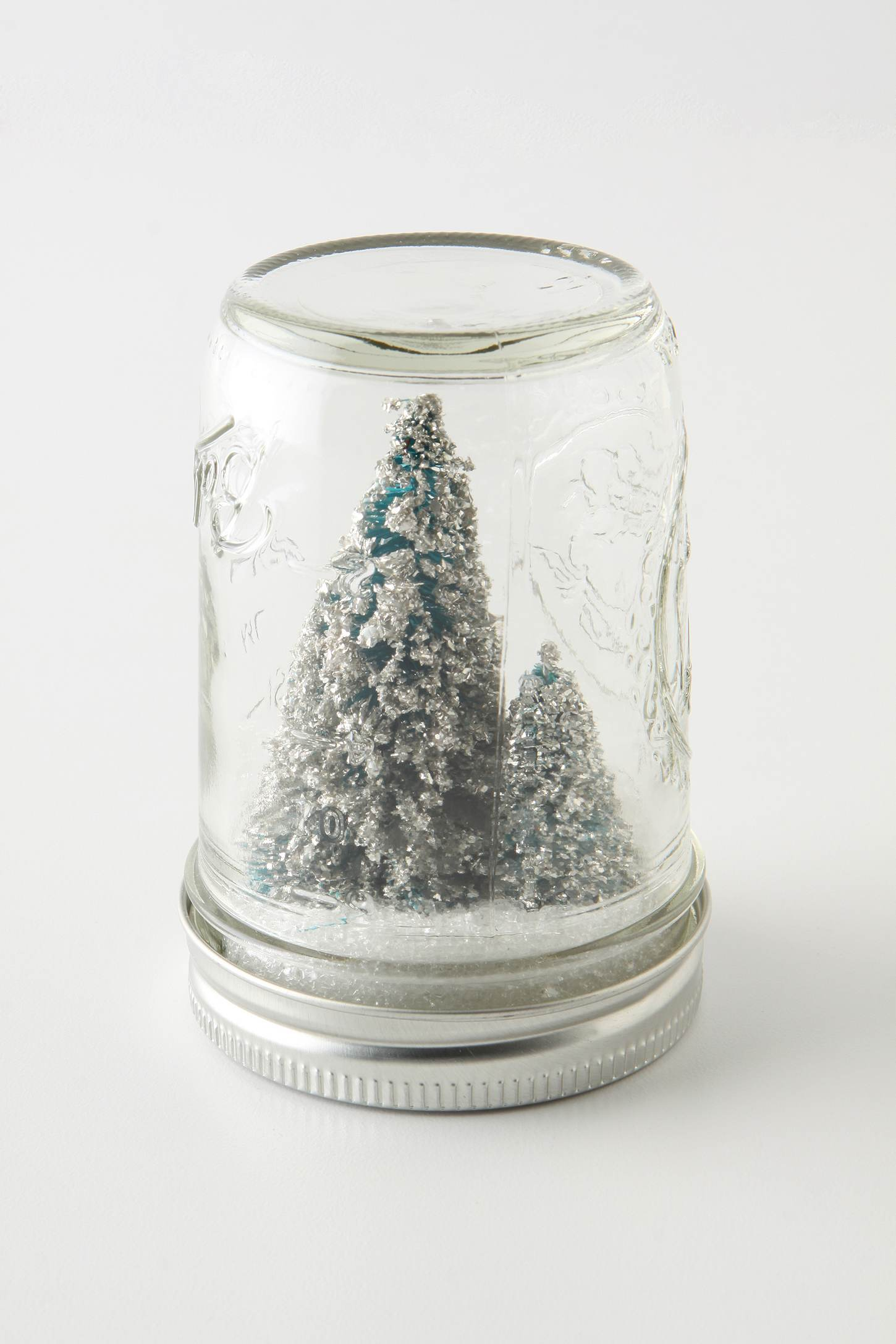 inspired & crafted: homemade holiday mason jar snowglobes with tiny ...