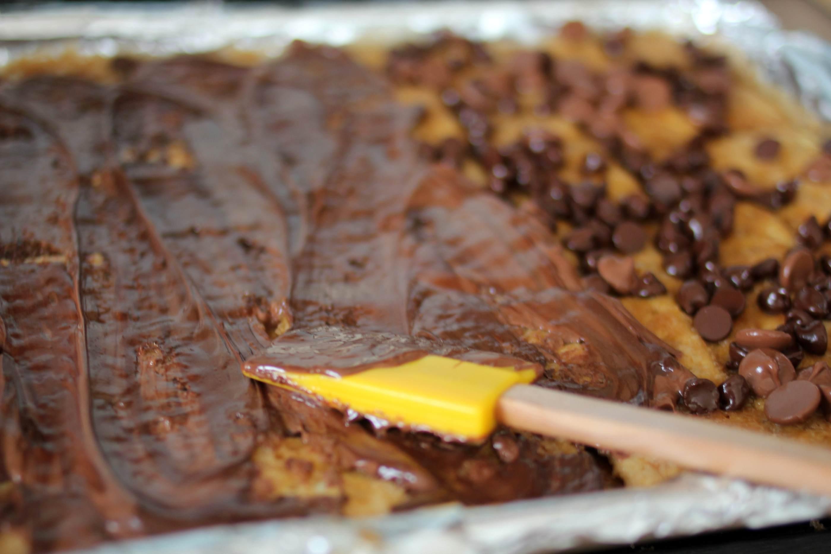 Chocolate Caramel Cookie Brittle Recipe — Dishmaps