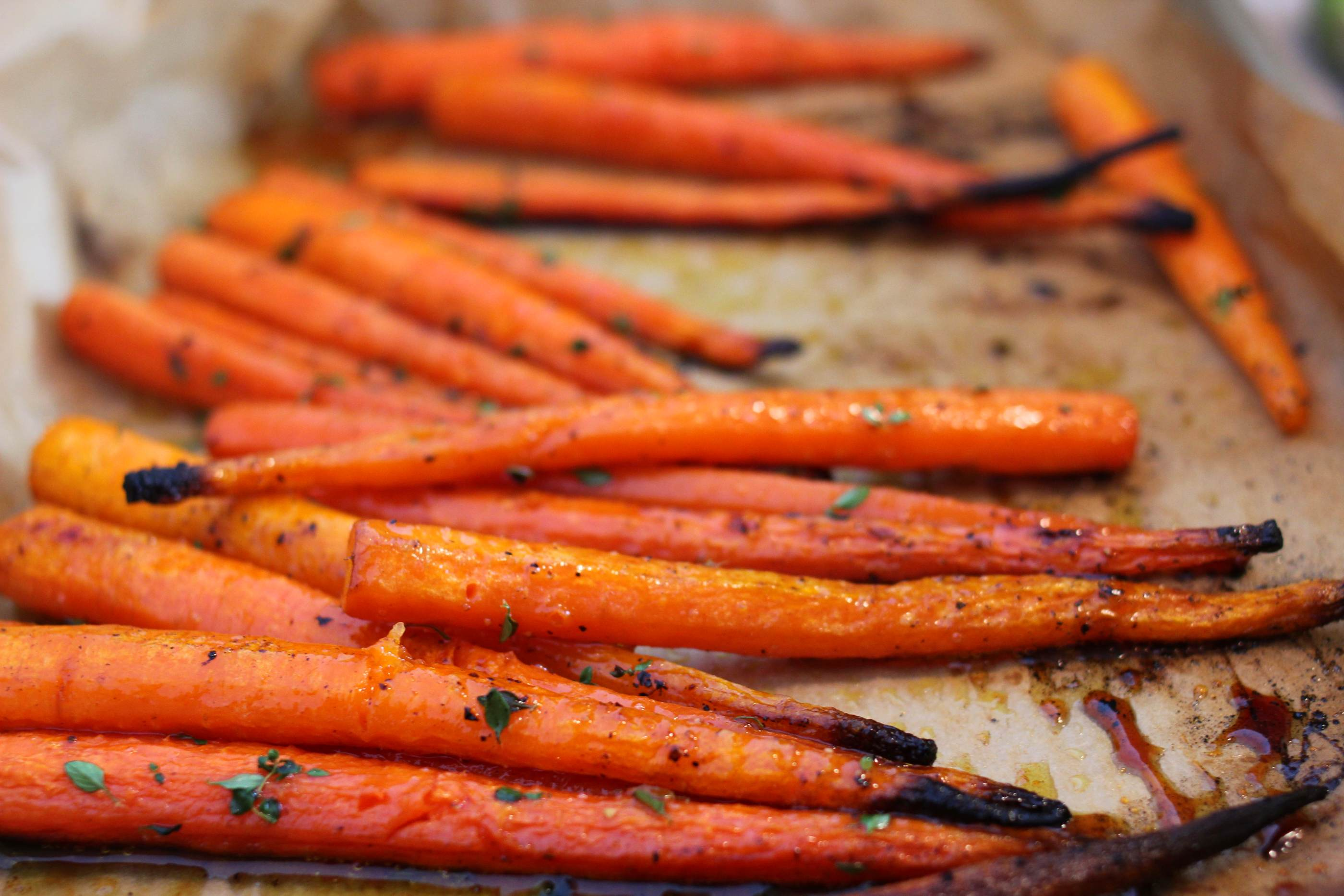 Thyme And Honey Roasted Carrots Recipes — Dishmaps