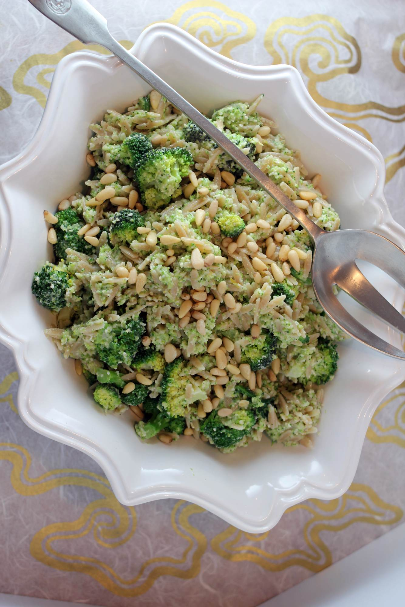 adjusting to the grind: whole wheat orzo & broccoli pesto salad with ...