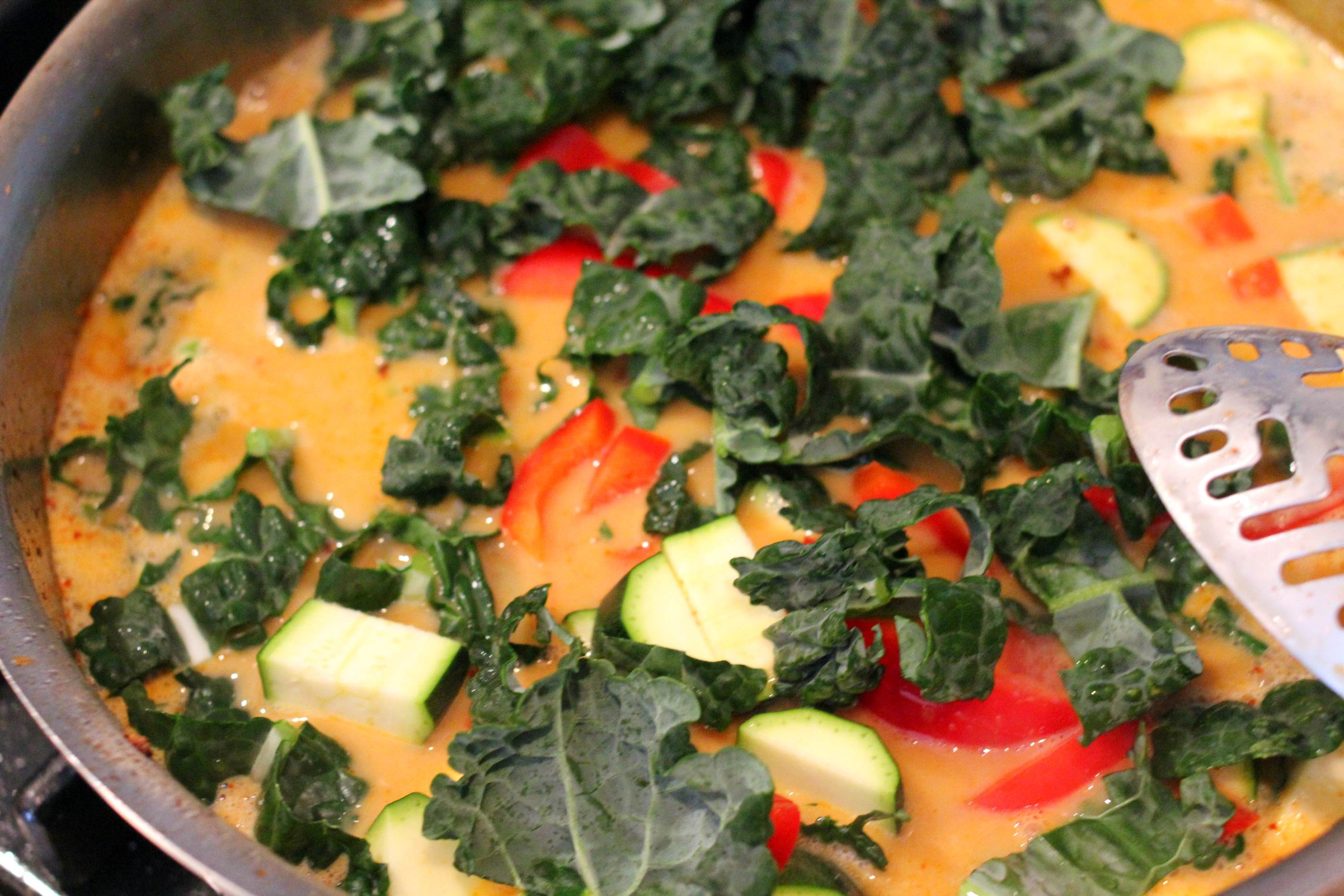 tofu and kale with brown rice pantry recipe for vegan red curry tofu ...