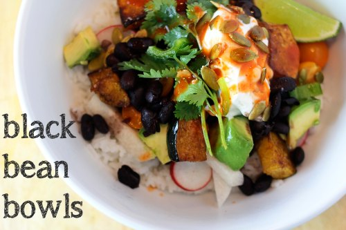 black bean bowls - healthy vegetarian dinners that you can customize with your own toppings