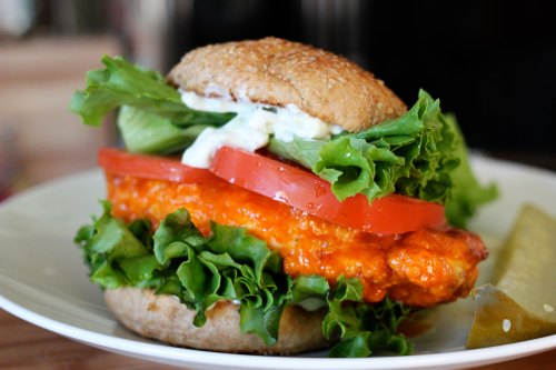 buffalo chicken sandwich 1