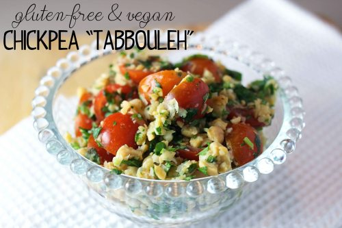 chickpea 'tabbouleh' (gluten-free & vegan!)