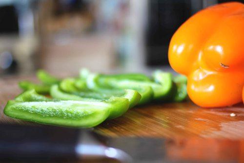creole jambalaya peppers cut