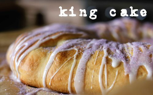king cake - a traditional new orleans treat!