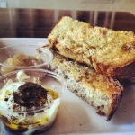 quinoa toast and labne at fraiche
