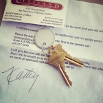 the keys to our new place arrived! what a great day.