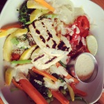 packing fuel: tofu green curry bowl