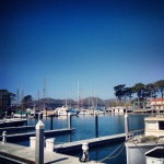 marina blue skies
