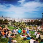 mission dolores park, on a fine sunday