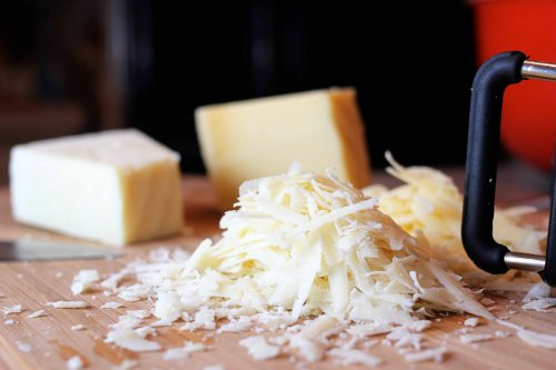 always lots of grated parmesan cheese