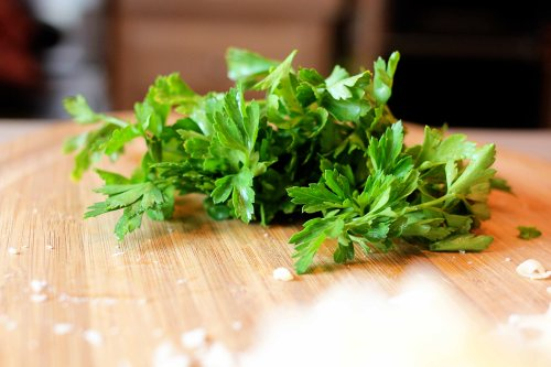 bright green parsley