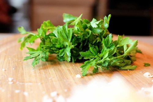 bright green parsley