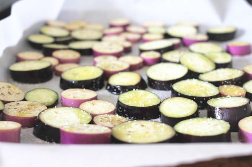 chinese eggplant ready to roast
