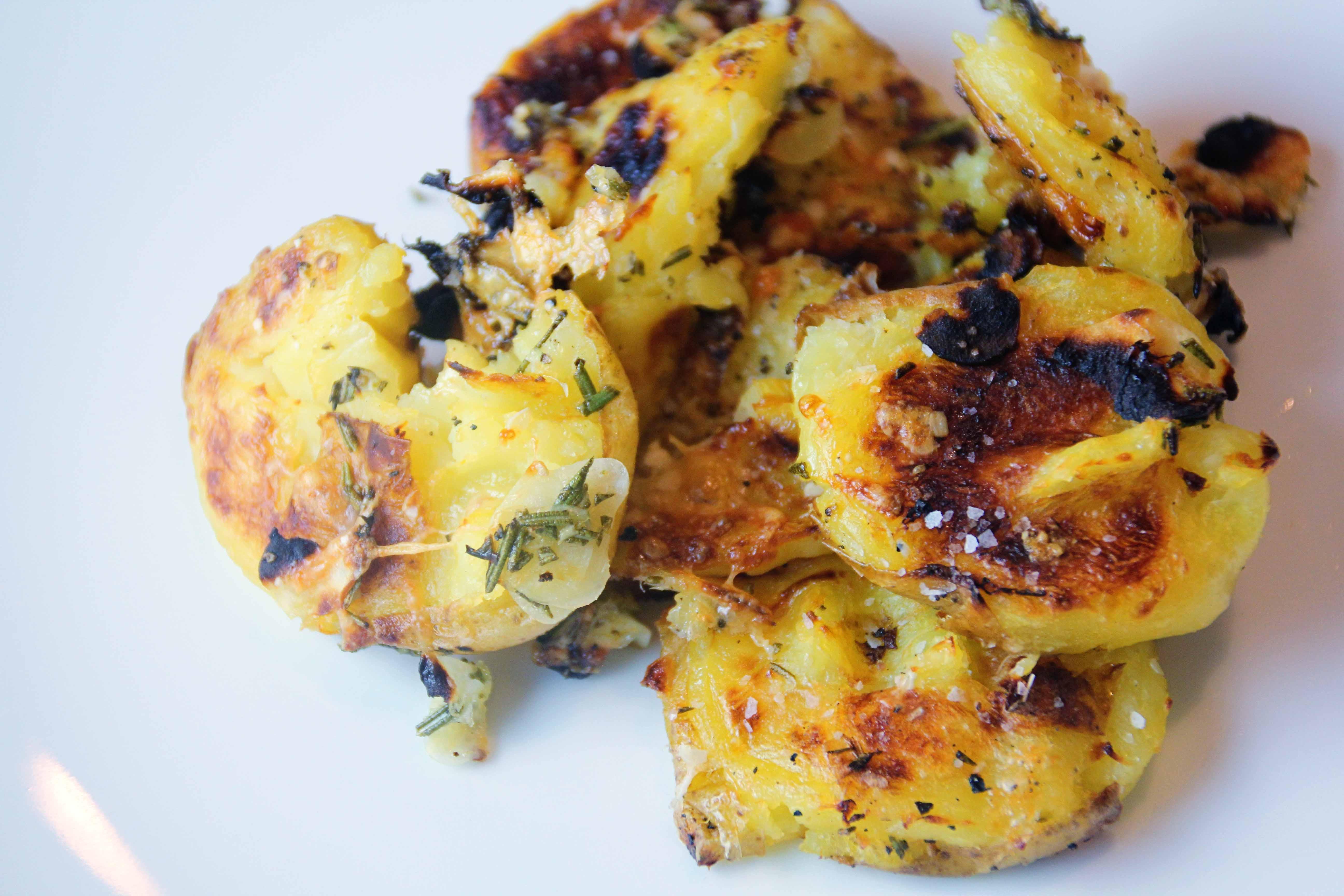 ... : smashed lemon, rosemary, and garlic potatoes | E A T & R E L I S H