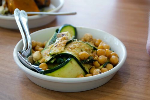 stokehouse - zucchini and chickpea salad