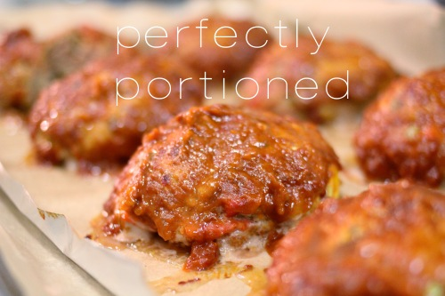 individual chipotle turkey meatloaves - perfectly portioned