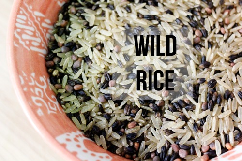 vegan wild rice bowls with garlic tahini sauce, wild rice medley