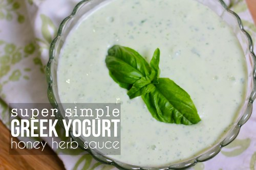 greek yogurt honey herb sauce copy