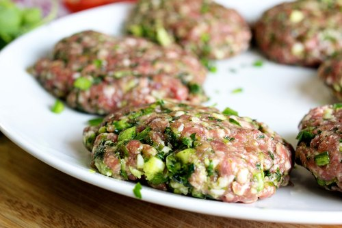 lamb patties - packed with herbs